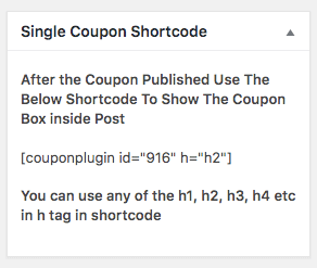 shortcode example