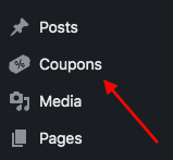 Admin sidebar icon